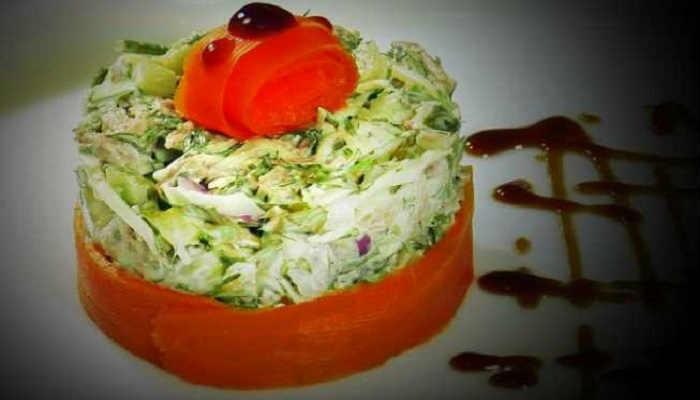 Вкусный салат с говядиной по простому рецепту