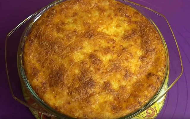 картофельная запеканка по простому рецепту готова