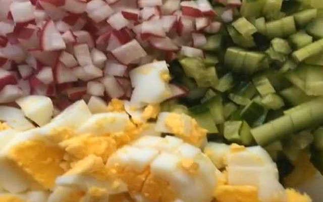 редис и яйца