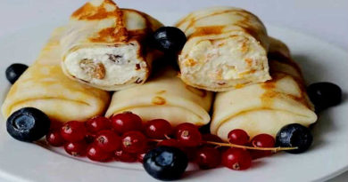 Блины, фаршированные творогом – Простые и вкусные рецепты с начинками из творога пошагово