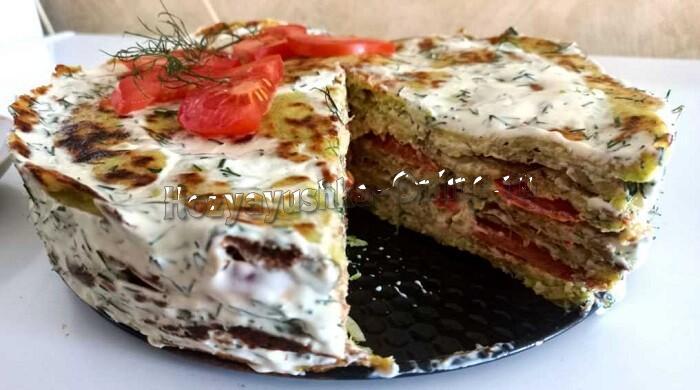 Кабачковый торт с помидорами и чесноком – лучшие рецепты торта из кабачков